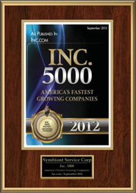 Inc 5000 - America's Fastest Growing Companies 2012