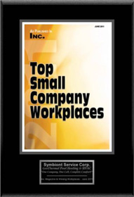 2011 Top Small Company Workplaces Award