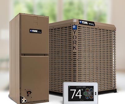 YORK Air Handler, Condenser and Thermostat