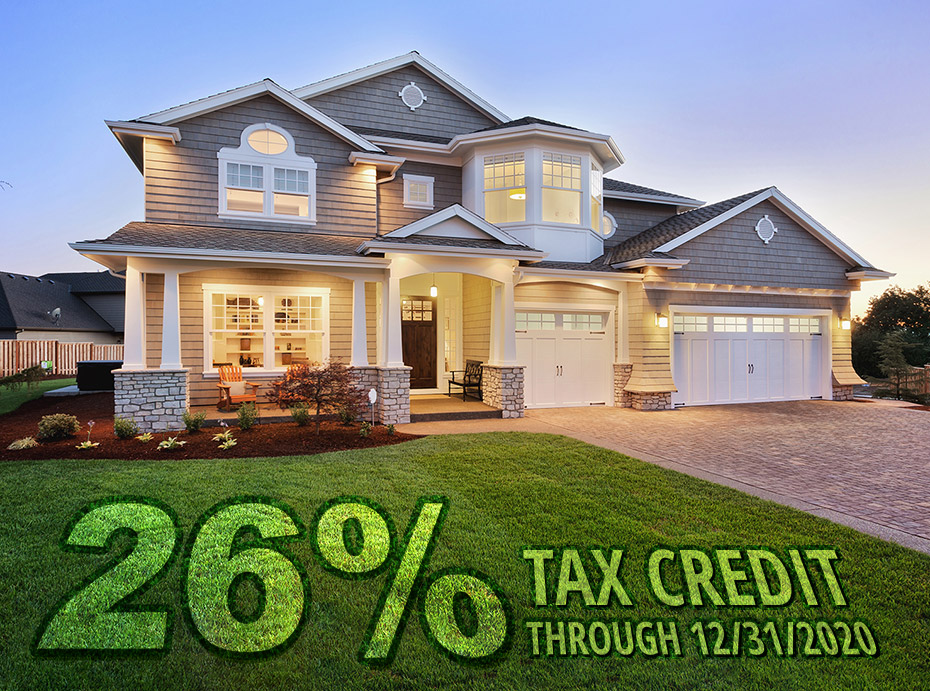 26% Federal Tax Credit Graphic