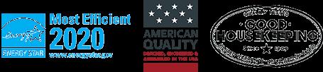 Energy Star Most Efficient 2020 Logo - American Quality Logo - Good Housekeeping Logo