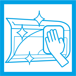 wipe clean panel icon